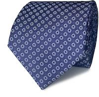 InStitchu Collection The Ferrandina Navy Geometric Silk Tie