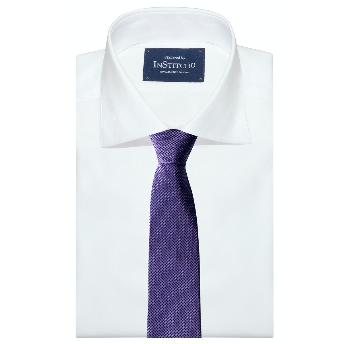 InStitchu Collection The Leverano Purple Patterned Silk Tie