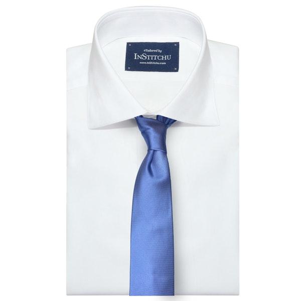 InStitchu Collection The Otranto Baby Blue Plain Silk Tie