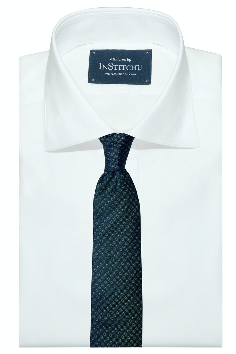 InStitchu Collection The Pisticci Deep Green Geometric Silk Tie