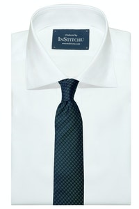 InStitchu Collection The Pisticci Deep Green Geometric Silk Tie