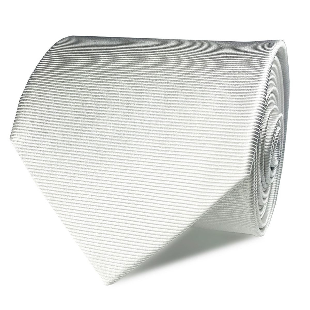 InStitchu Collection The Scalo White Plain Silk Tie