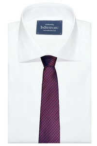 InStitchu Collection The Tursi Maroon Geometric Silk Tie