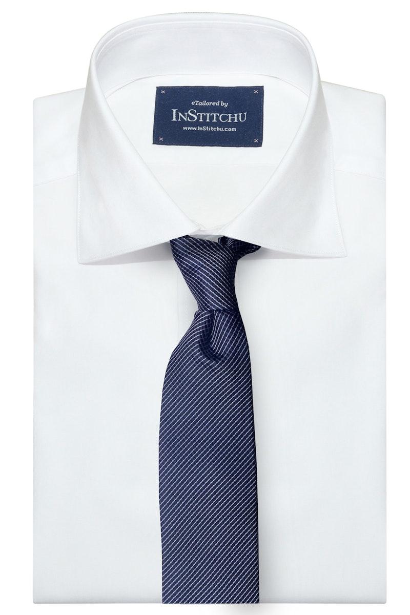 InStitchu Collection The Veglie Navy Patterned Silk Tie