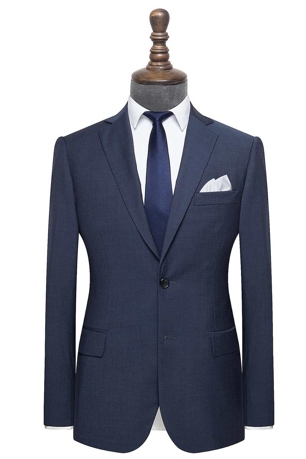 InStitchu Collection The Avalon Navy Plain mens suit