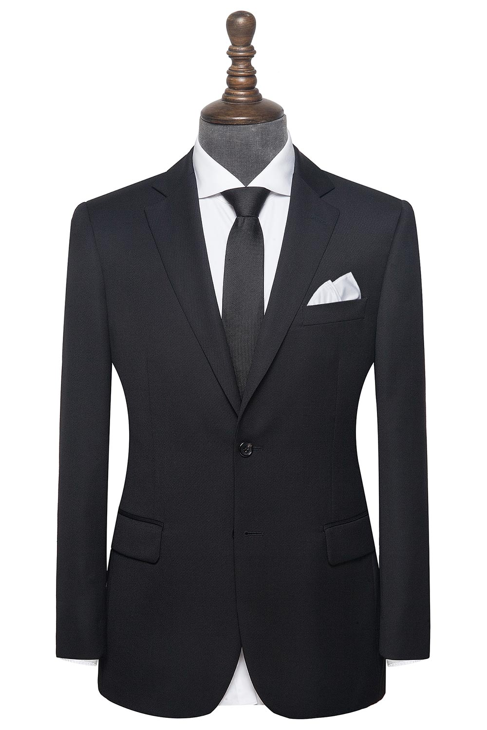 InStitchu Collection The Alfie Black Plain mens suit