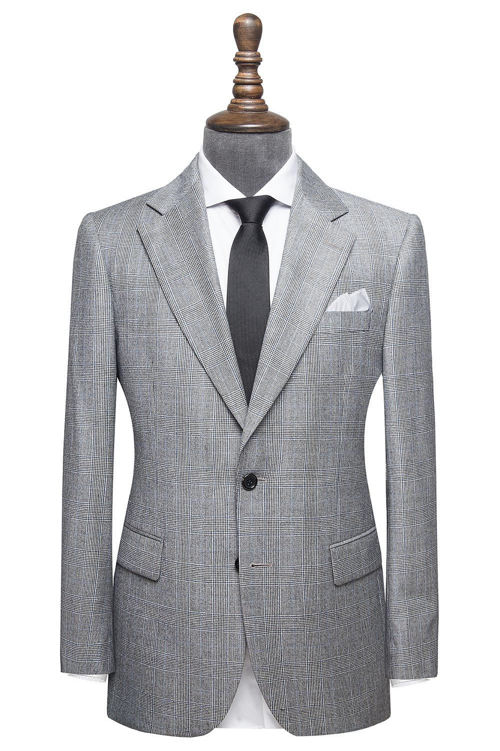 The Stafford Grey And Blue Glenplaid Everyday Suit Men S