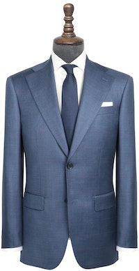 InStitchu Collection Beez Blue Windowpane Wool Jacket