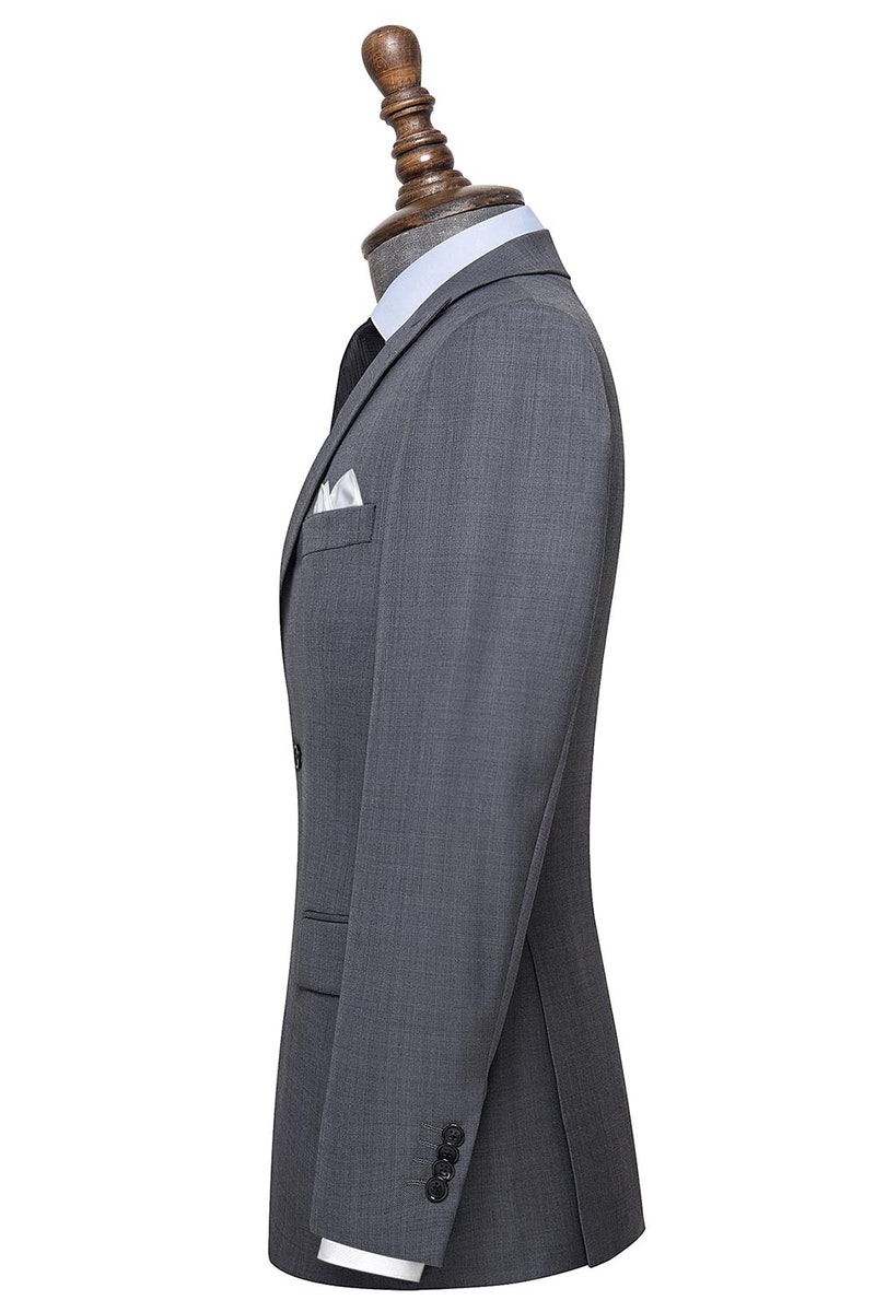 InStitchu Collection Belview Grey Wool Jacket