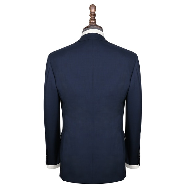 InStitchu Collection Brooklands Navy Glen Plaid Wool Jacket