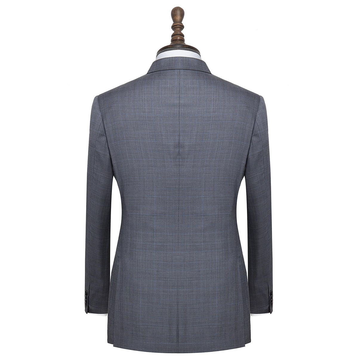InStitchu Collection Carnwath Grey Glen Plaid Wool Jacket