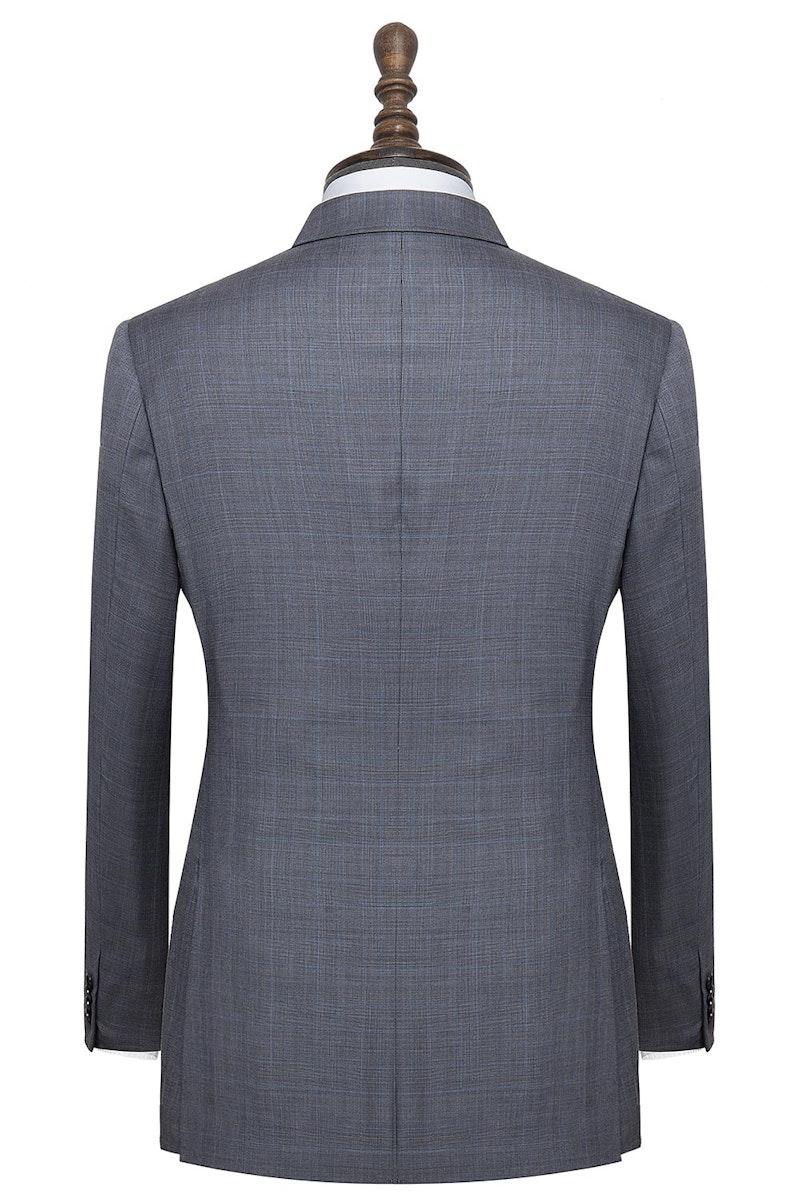 InStitchu Collection Carnwath Grey Glen Plaid Wool Jacket