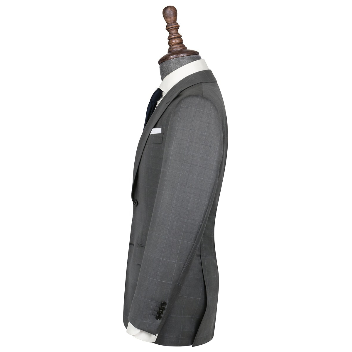 InStitchu Collection Casey Grey Windowpane Wool Jacket