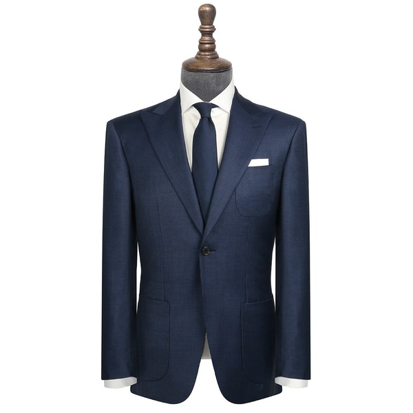 InStitchu Collection Draper Navy Birdseye Wool Jacket
