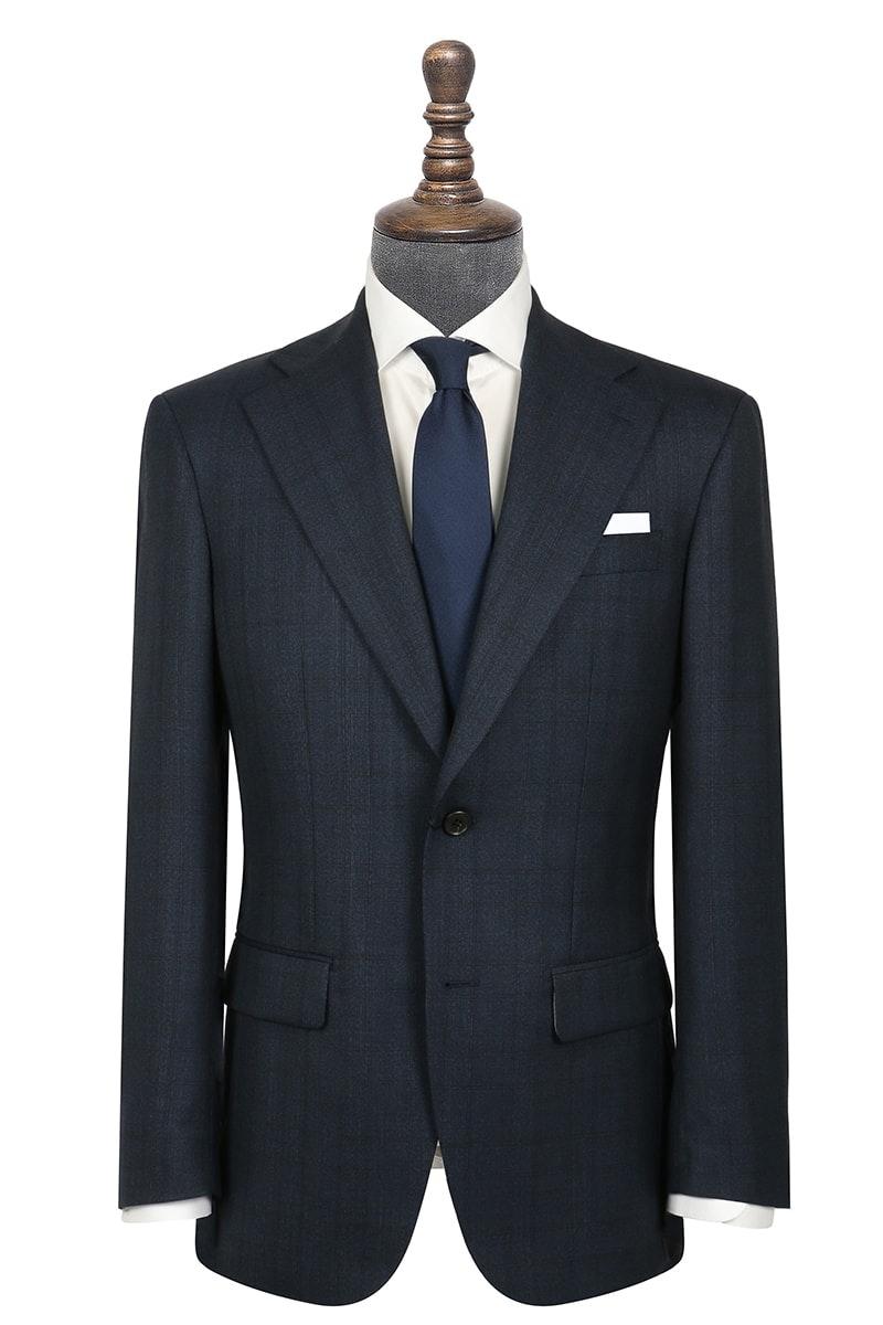 InStitchu Collection Evans Navy Glen Plaid Wool Jacket