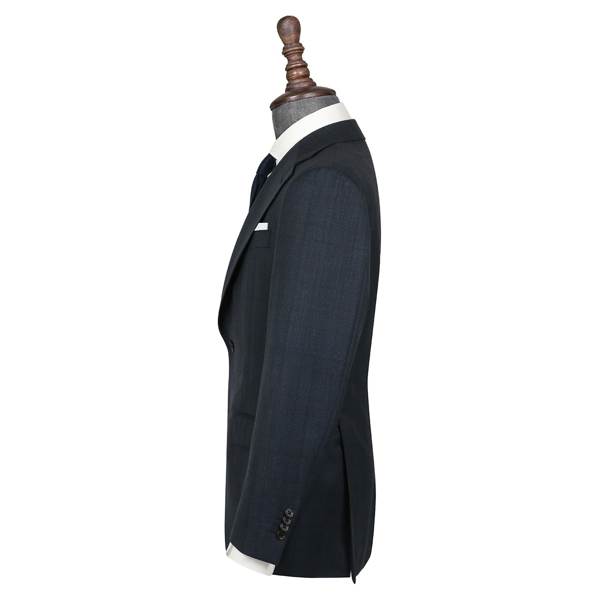 InStitchu Collection Evans Navy Glen Plaid Wool Jacket