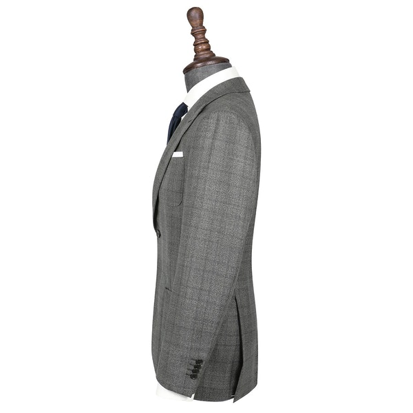InStitchu Collection Freehill Charcoal Glen Plaid Wool Jacket