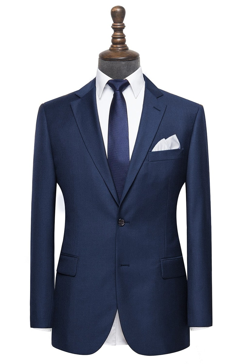 InStitchu Collection Harris Navy Wool Jacket