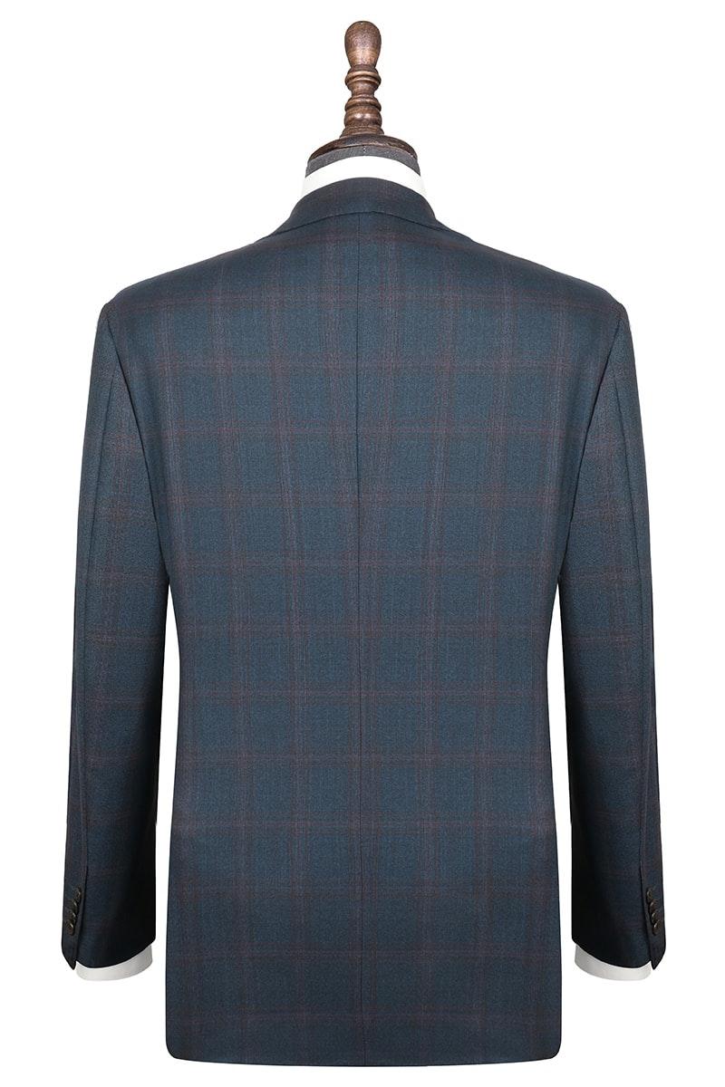 InStitchu Collection Herbert Blue Glen Plaid Wool Jacket