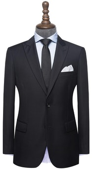 InStitchu Collection Huffed Black Wool Suit