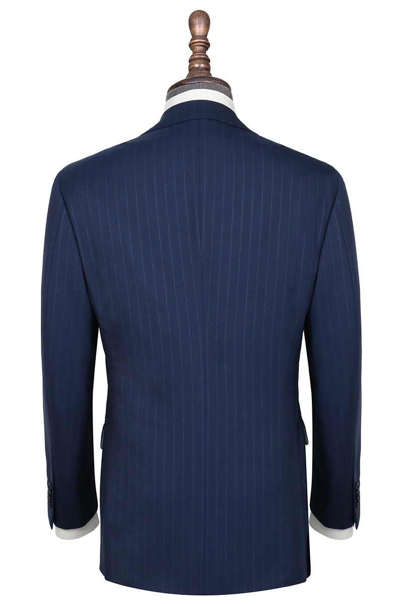 InStitchu Collection Hyndford Navy Chalkstripe Wool Jacket