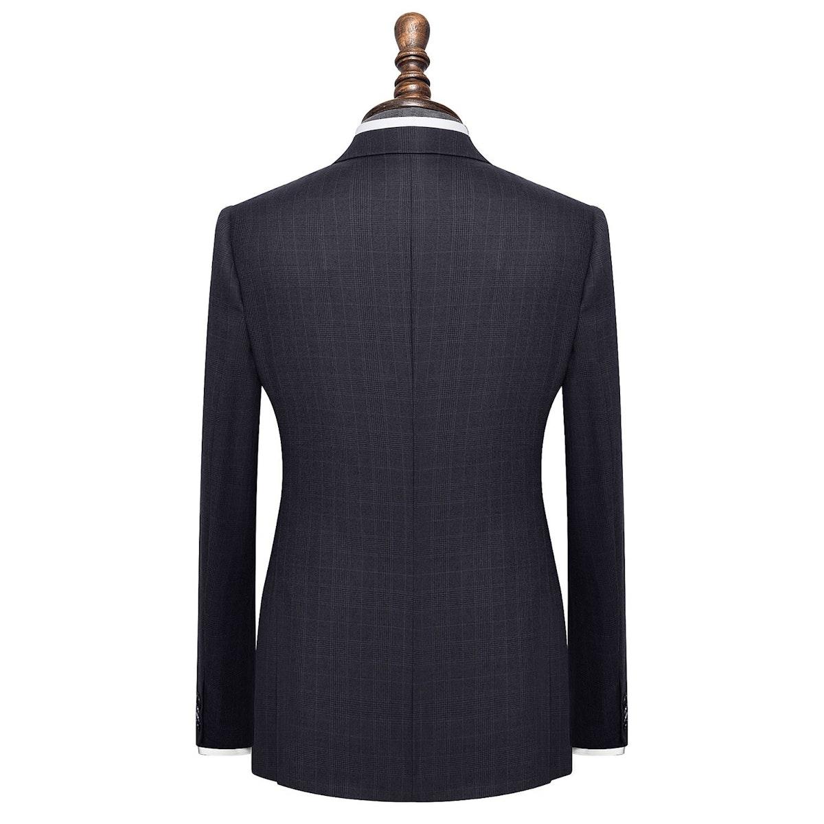 InStitchu Collection Kilter Blue Glen Plaid Wool Jacket