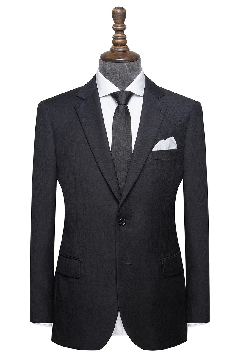 InStitchu Collection Robertson Black Wool Jacket