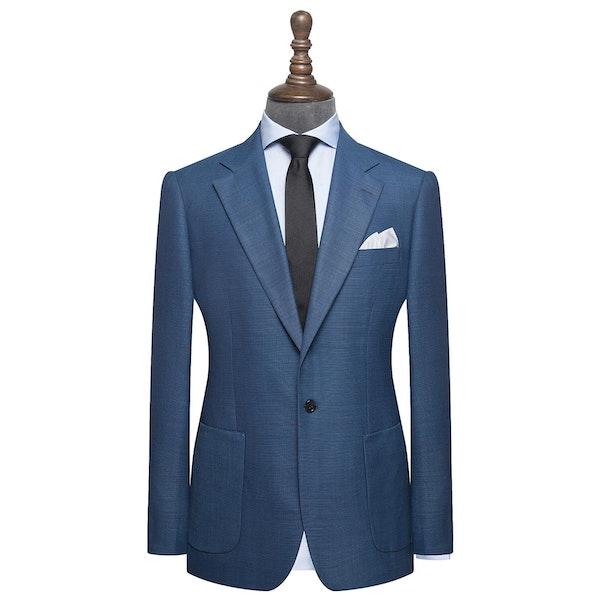 InStitchu Collection Rollino Blue Wool Jacket