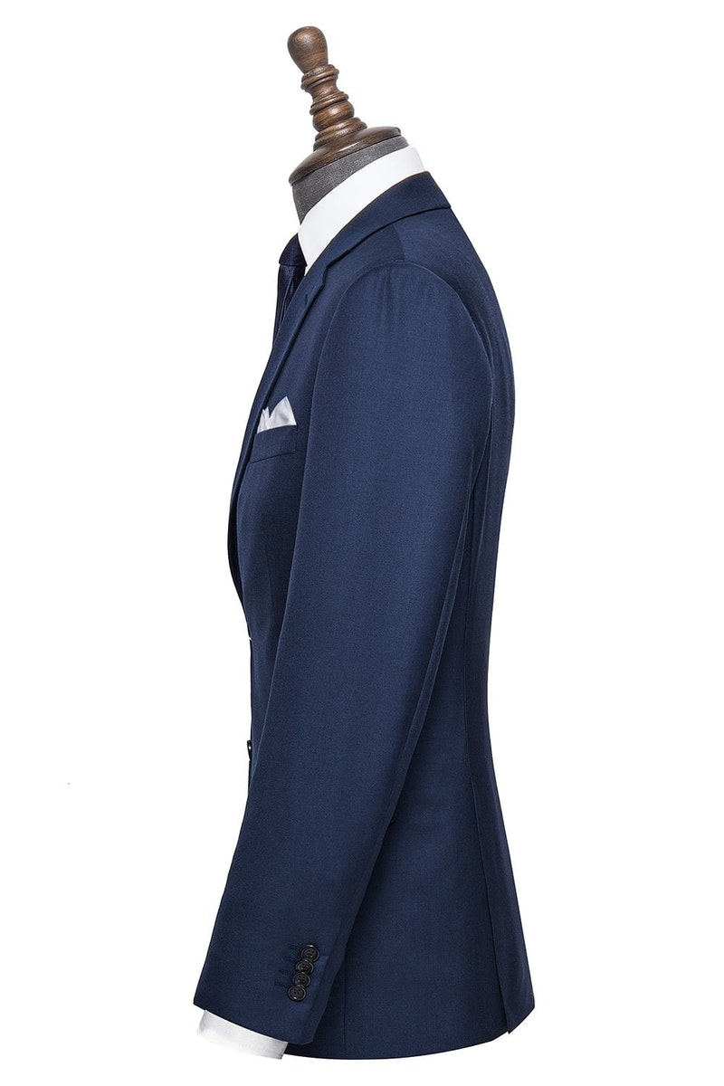 InStitchu Collection Sherry Navy Wool Jacket