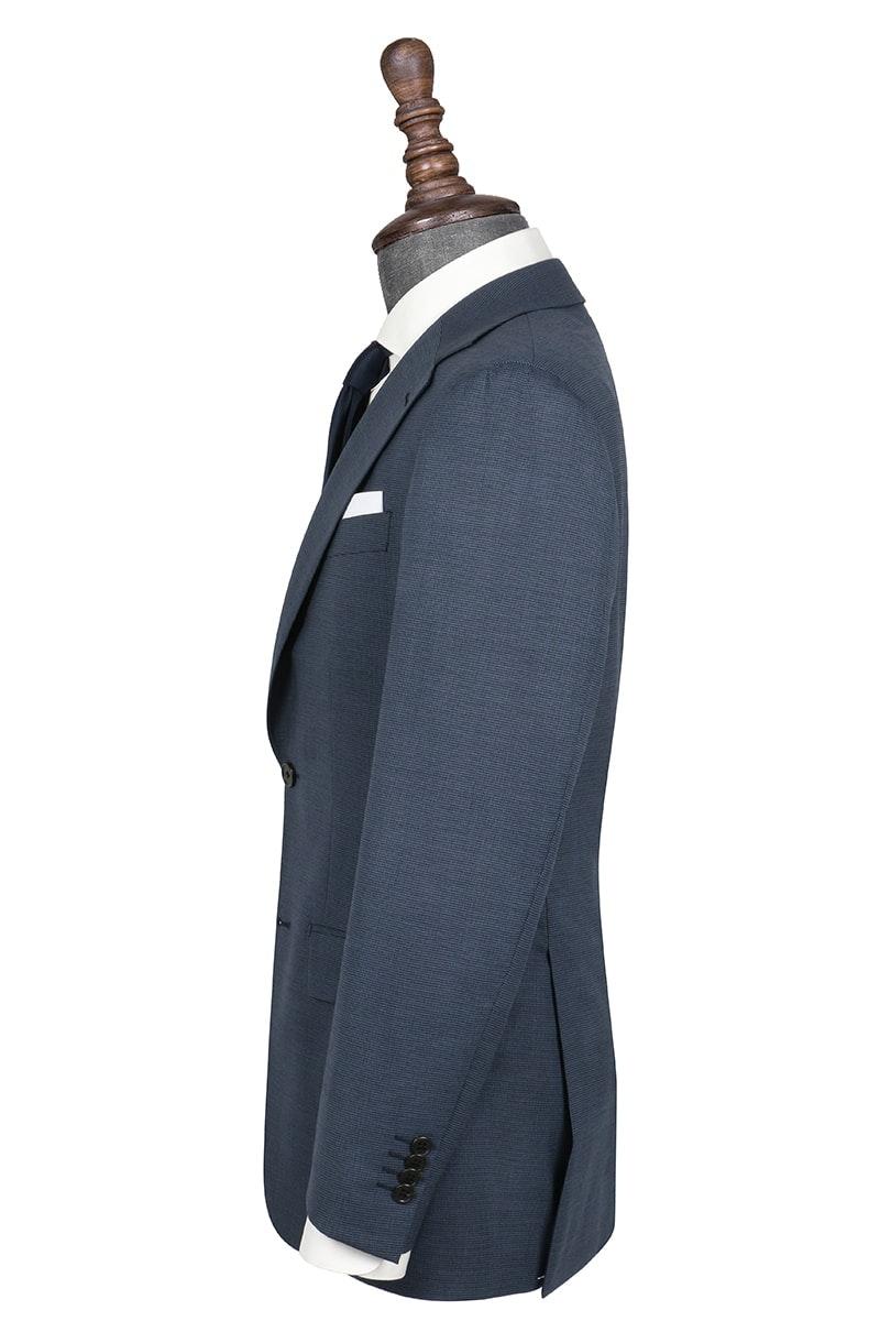 InStitchu Collection Spangle Blue Birdseye Wool Blend Jacket
