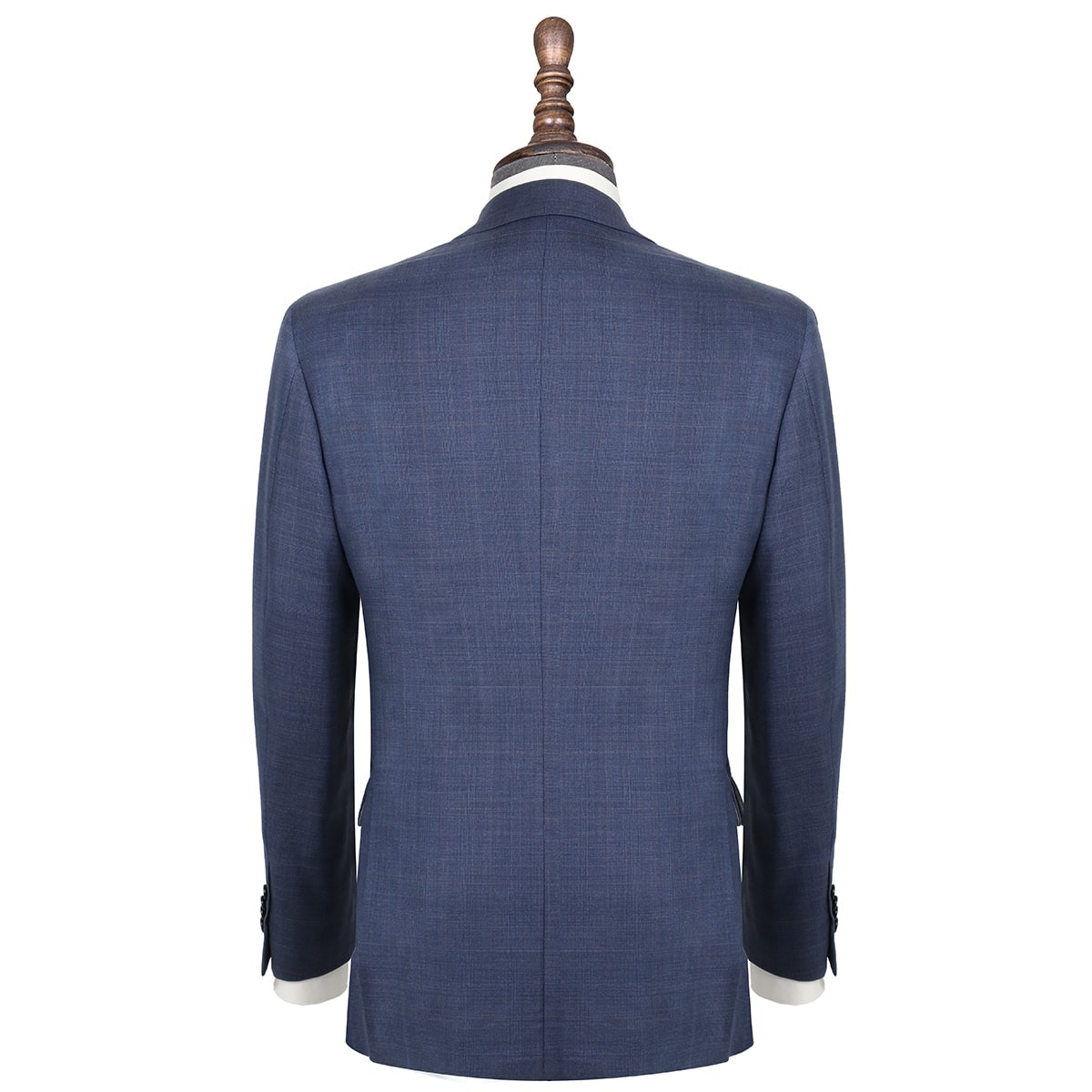 InStitchu Collection Stubbs Blue Glen Plaid Wool Jacket