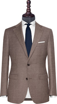 InStitchu Collection The Amalfi Grey Brown Textured Wool Jacket