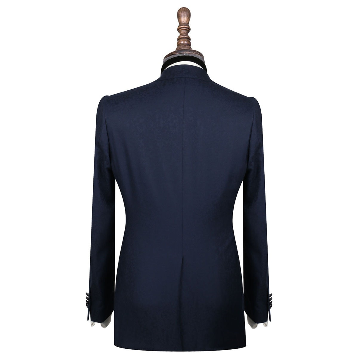 InStitchu Collection The Baggio Navy Floral Wool Dinner Jacket