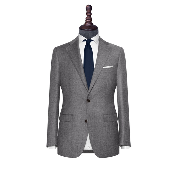 InStitchu Collection The Bergamo Grey Flannel Wool Jacket
