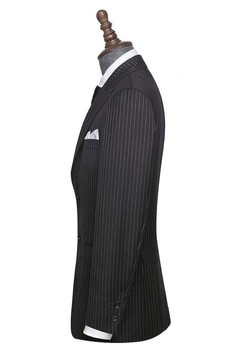 InStitchu Collection The Bleecker Navy Wool Pinstripe Jacket