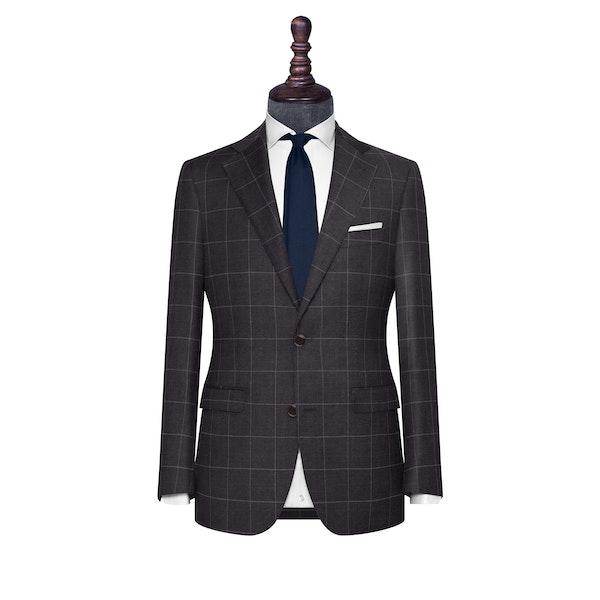 InStitchu Collection The Bolzano Charcoal Windowpane Wool Jacket