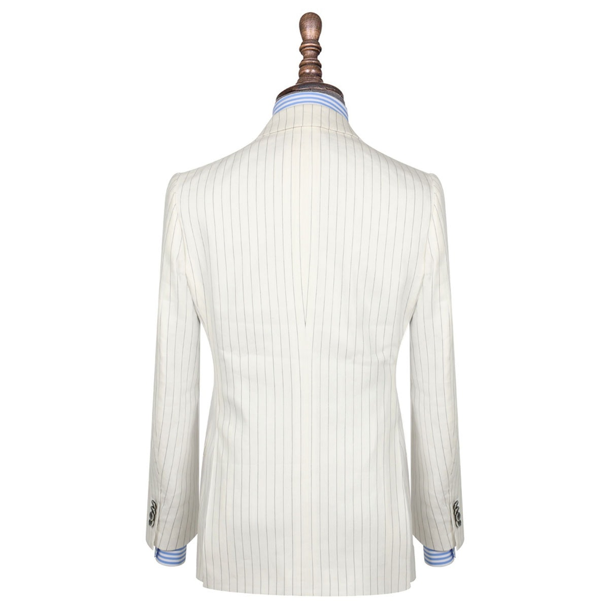 InStitchu Collection The Carraway White With Black Pinstripe Linen Jacket
