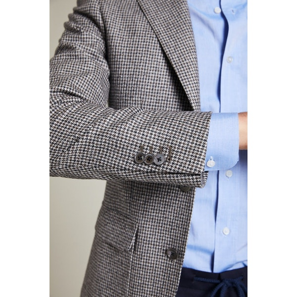 InStitchu Collection The Cavendish Grey Houndstooth Jacket