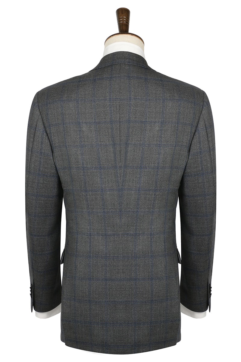 InStitchu Collection The Country Grey Linen Cotton Check Jacket