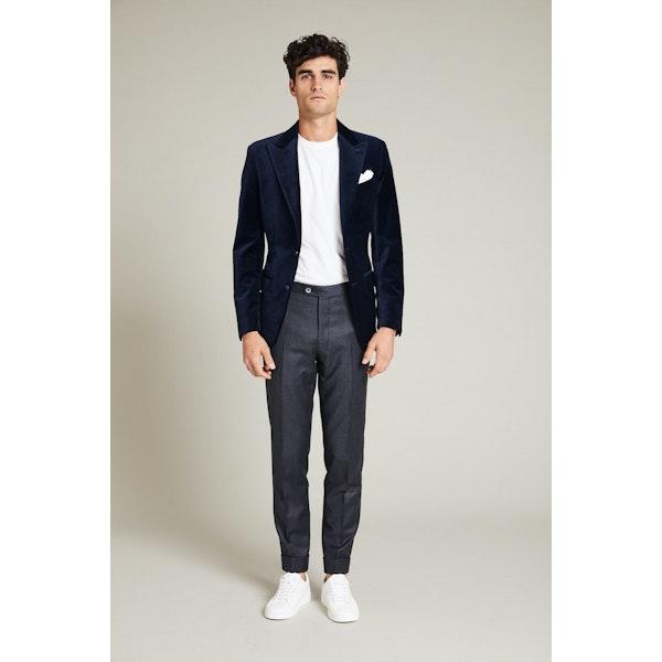 InStitchu Collection The Dustin Navy Velvet Jacket