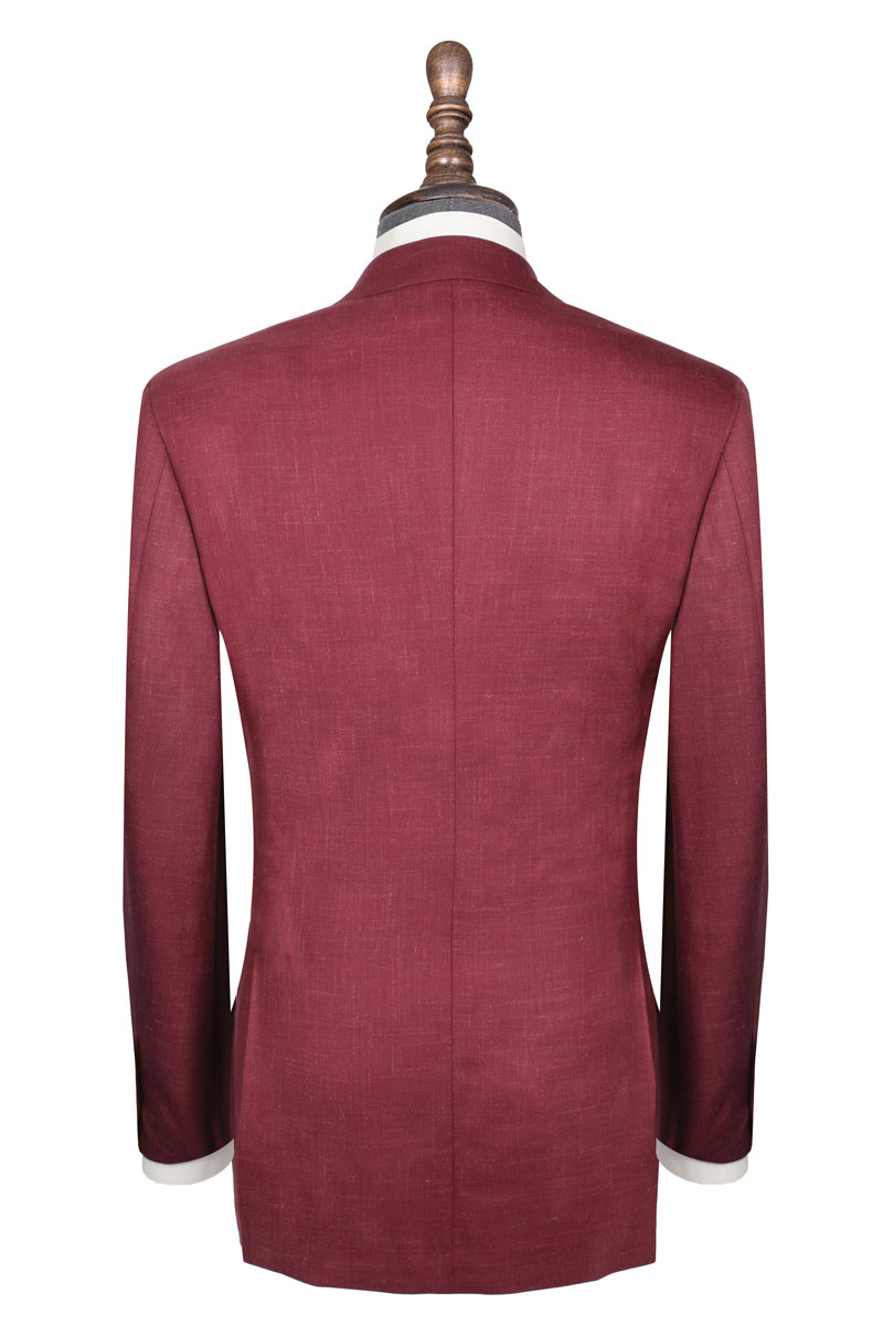 InStitchu Collection The Kinchega Light Maroon Slub Wool Jacket