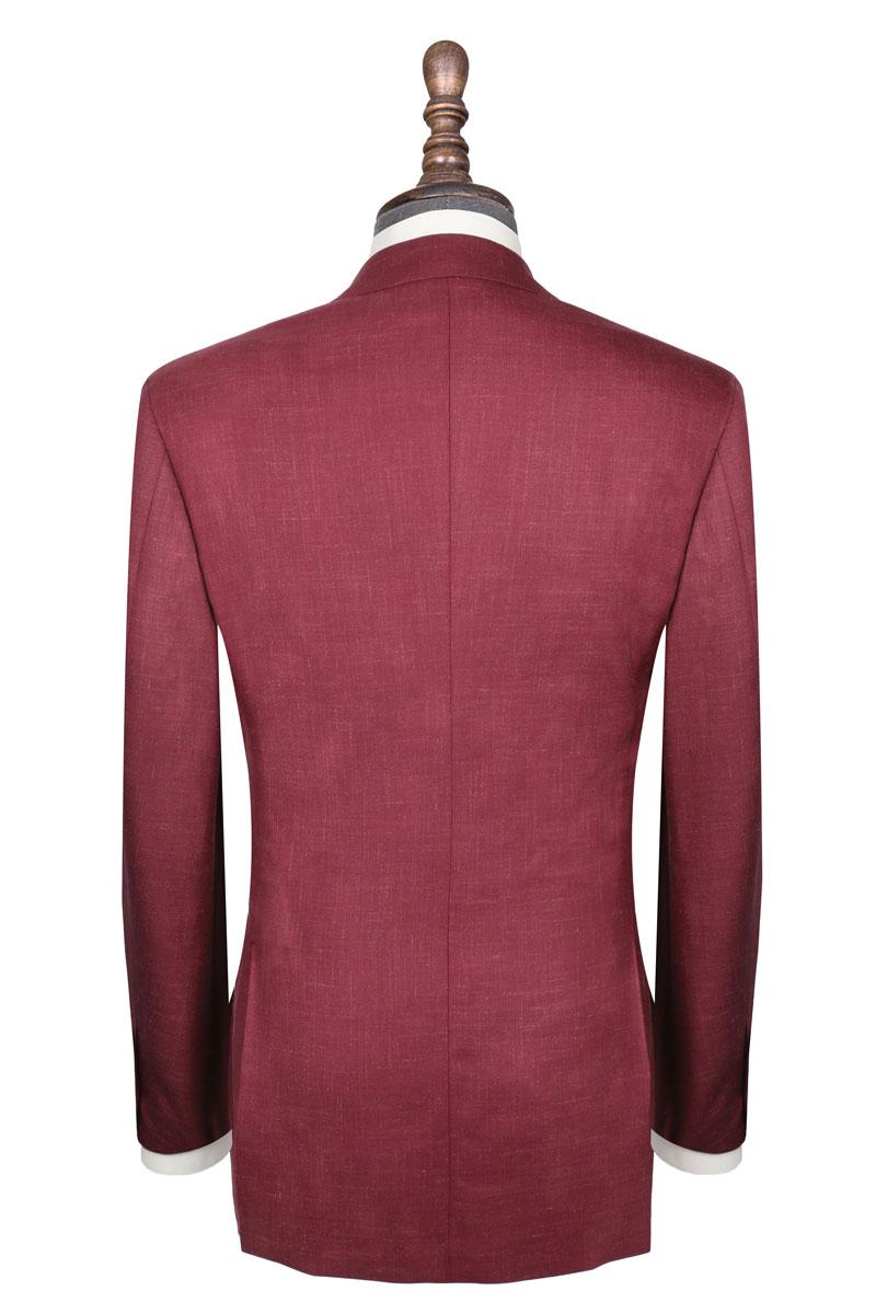 InStitchu Collection The Kinchega Light Maroon Slub Wool Jacket