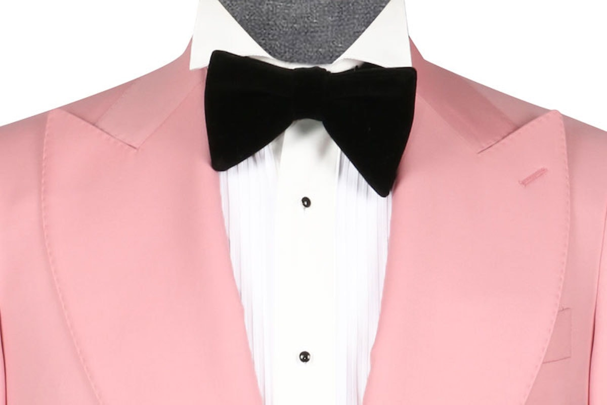 InStitchu Collection The Lapo Pink Wool Dinner Jacket