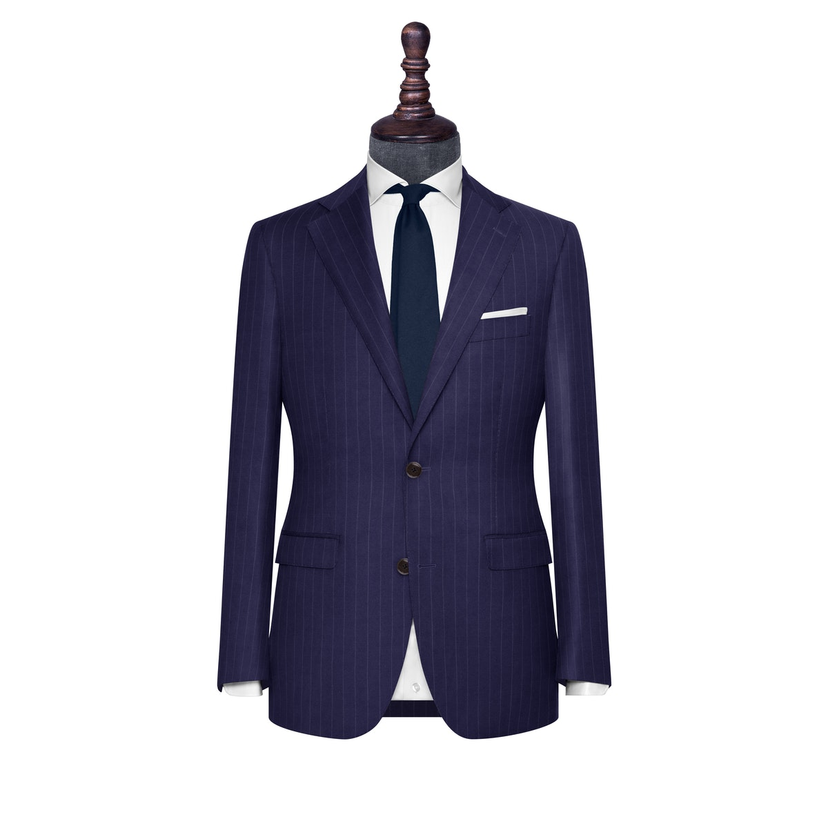 InStitchu Collection The Livorno Navy Chalk Stripe Wool Jacket