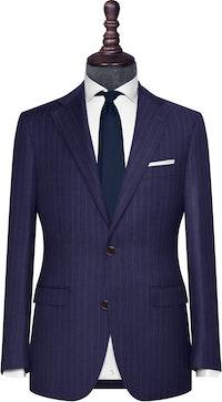 InStitchu Collection The Livorno Navy Chalk Stripe Wool Jacket