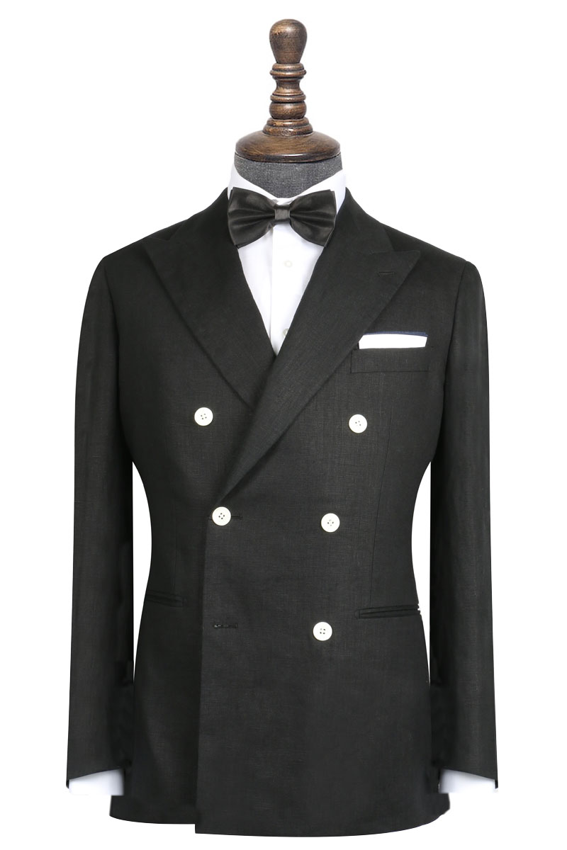 InStitchu Collection The Manhattan Black Linen Jacket