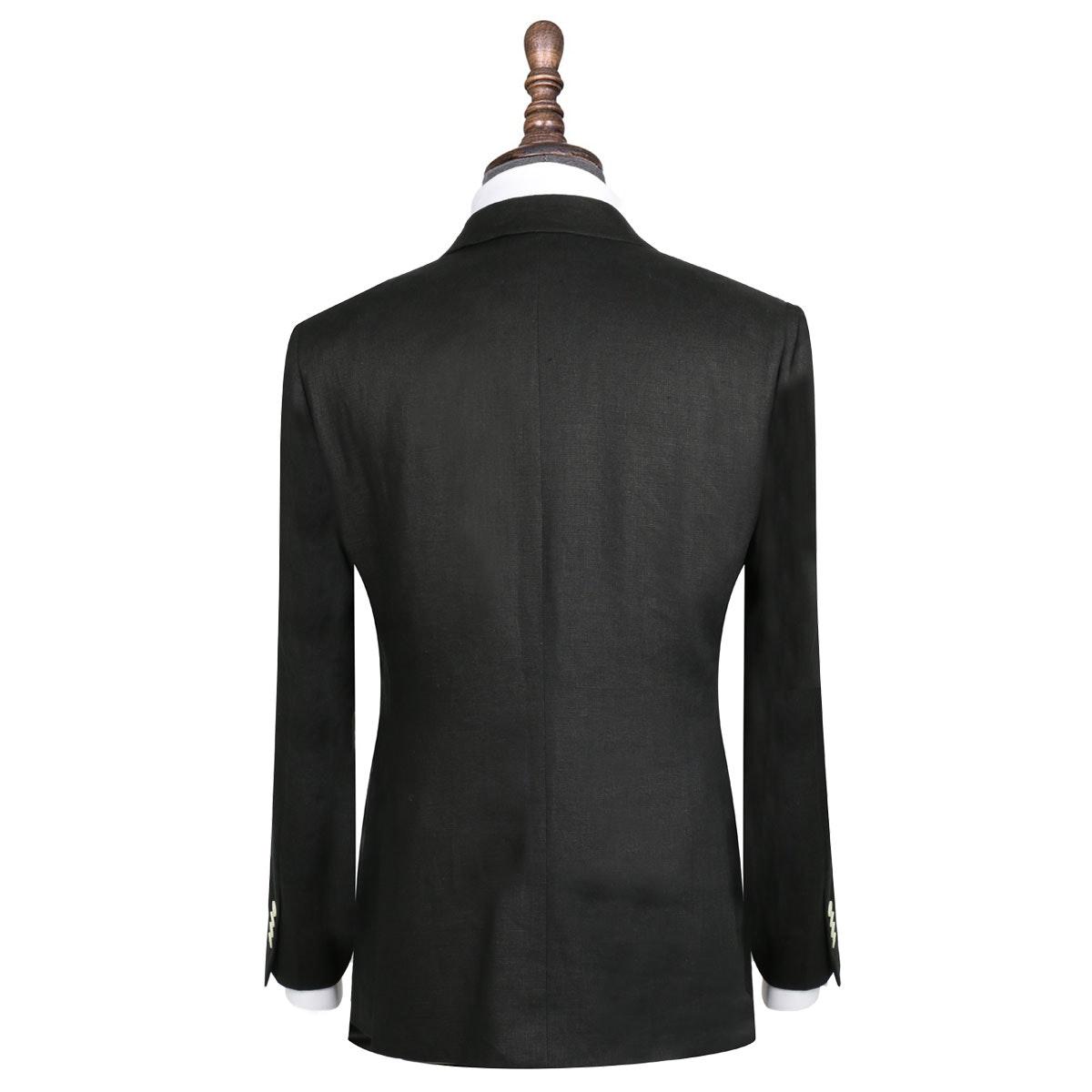 InStitchu Collection The Manhattan Black Linen Jacket