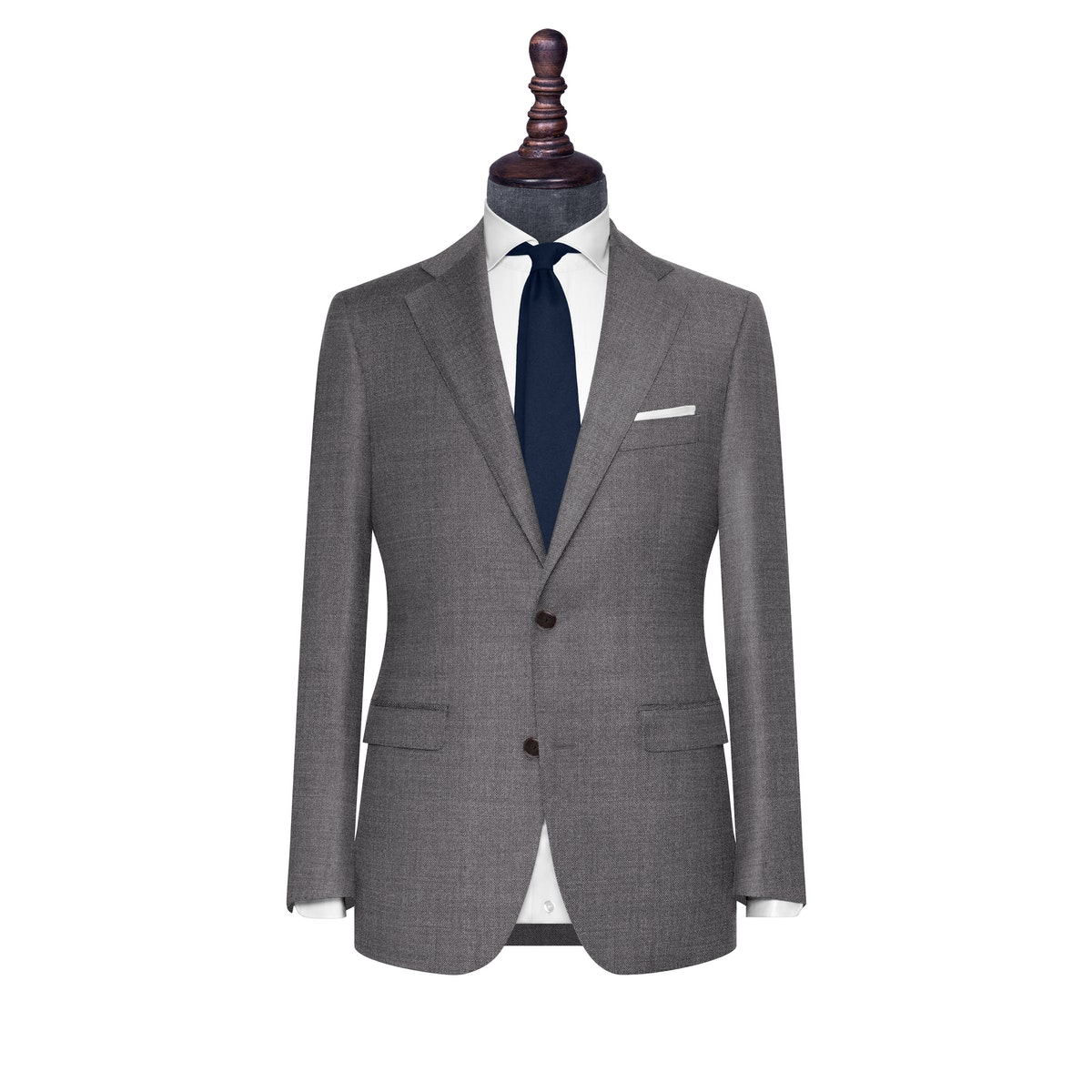 InStitchu Collection The Milan Grey Textured Wool Jacket