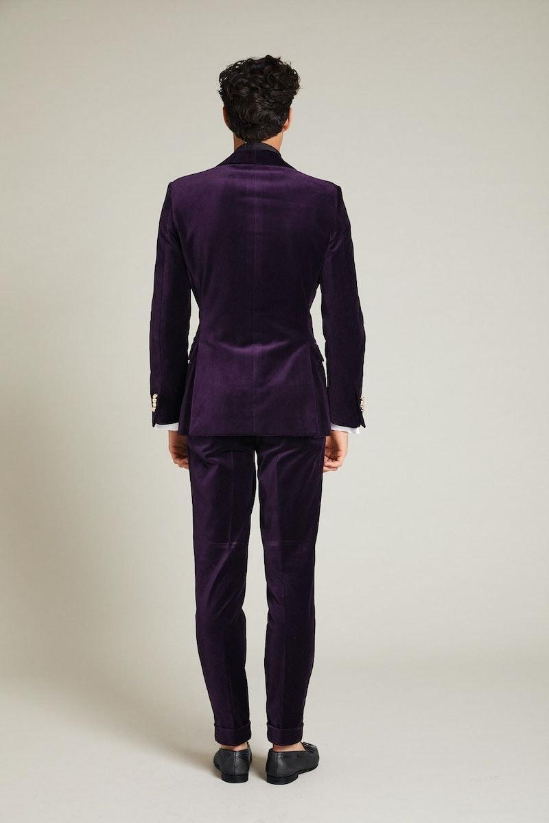 InStitchu Collection The Napier Purple Velvet Jacket