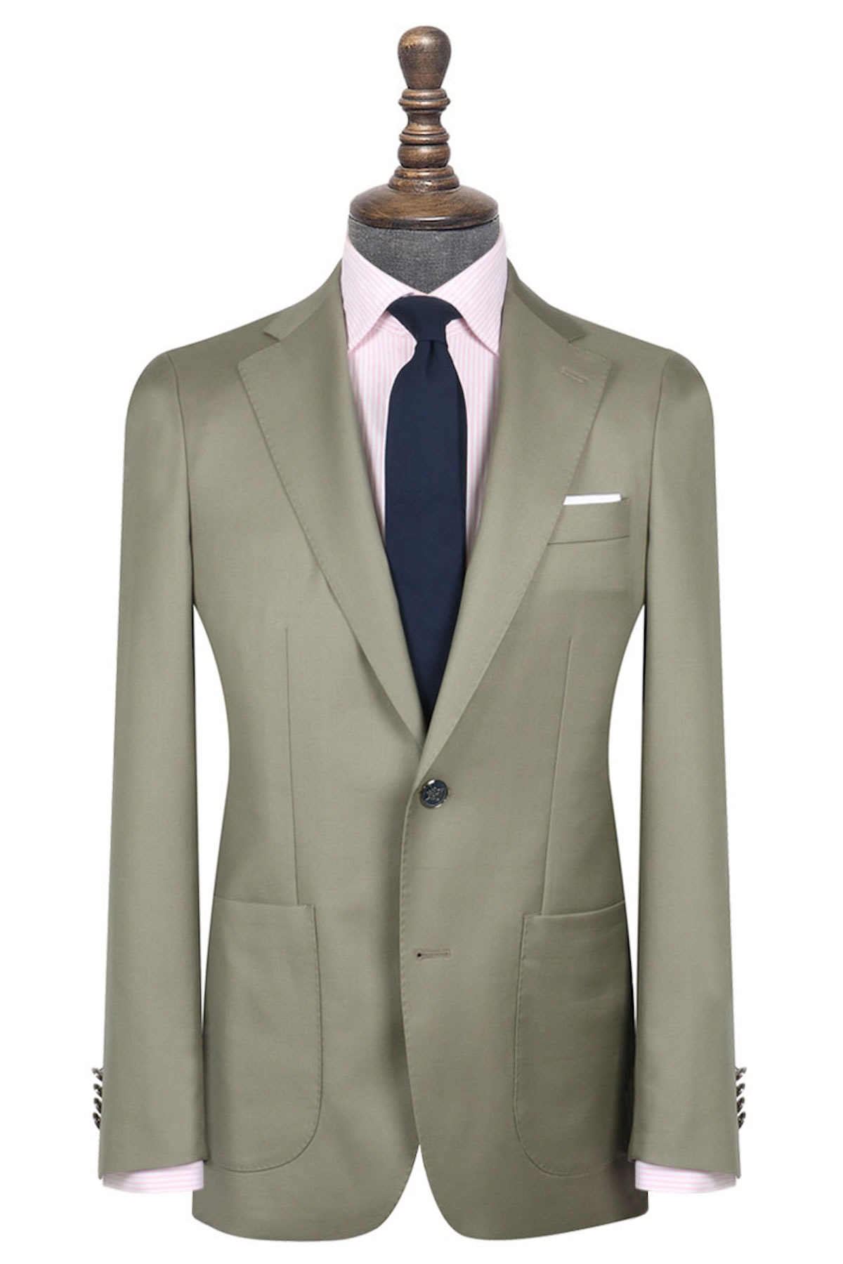 InStitchu Collection The Nesta Pastel Olive Green Wool Jacket